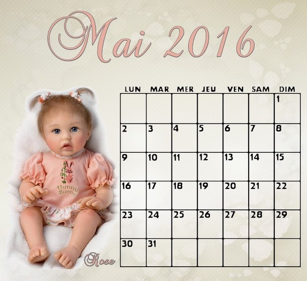 CALENDRIER MAI 2016