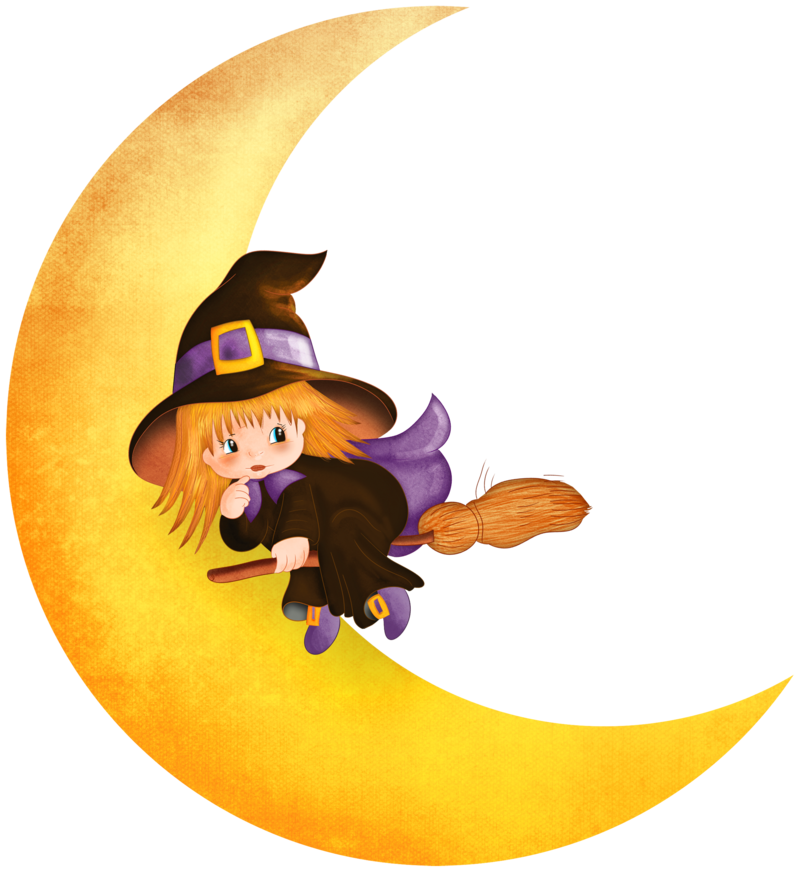 Halloween_Witch_on_the_Moon_PNG_Clipart_1