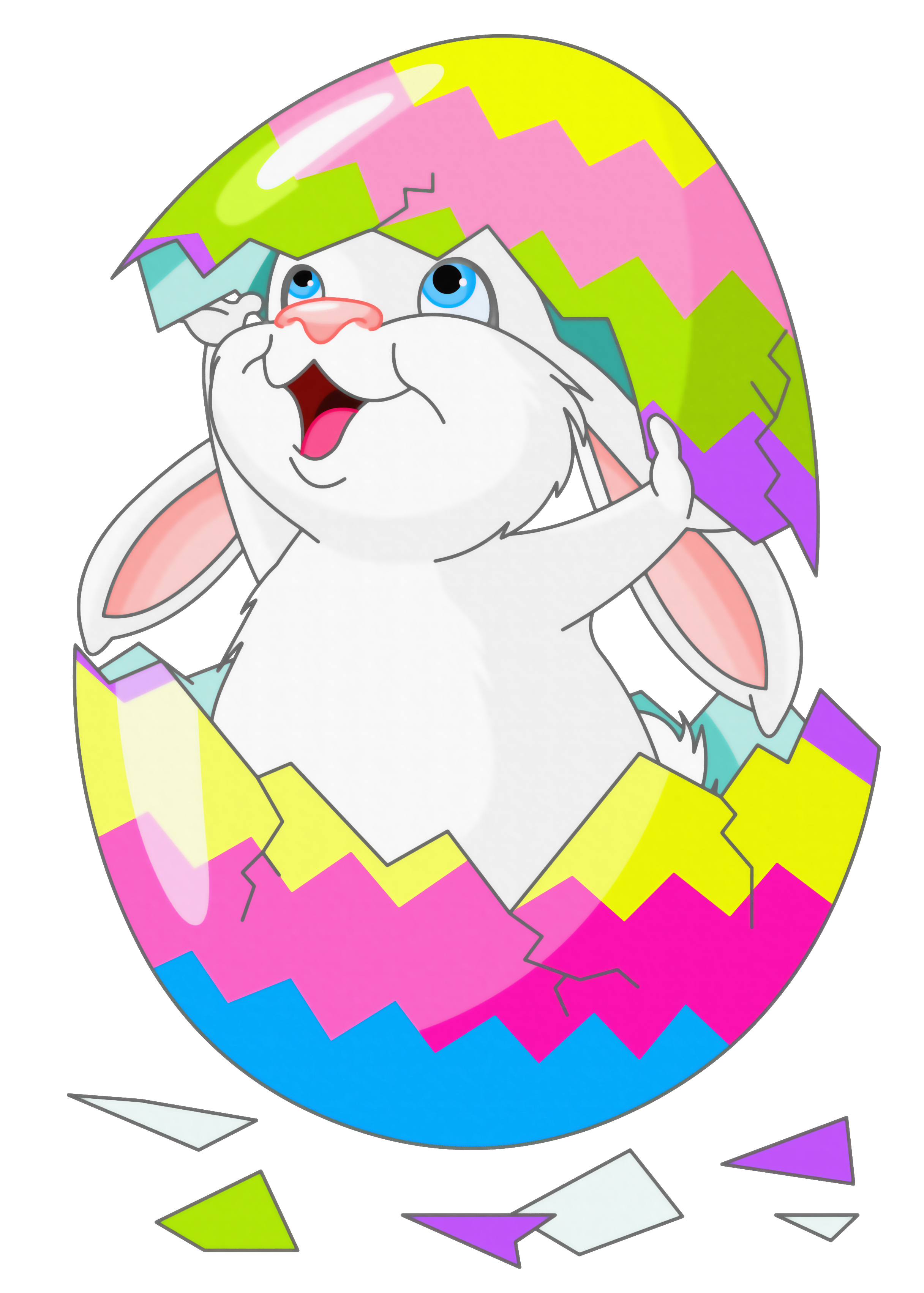 Easter Bunny With Eggs Clipart le passe temps ...